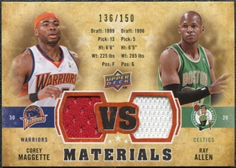 2009/10 Upper Deck VS Dual Materials Bronze #VSAM Corey Maggette Ray Allen 136/150