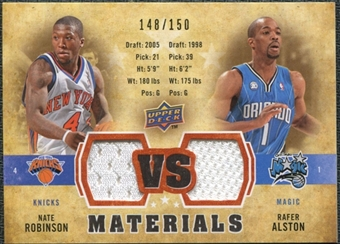 2009/10 Upper Deck VS Dual Materials Bronze #VSAR Nate Robinson Rafer Alston /150