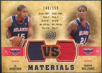 2009/10 Upper Deck VS Dual Materials Bronze #VSAW Al Horford Marvin Williams /150