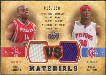 2009/10 Upper Deck VS Dual Materials Bronze #VSBL Carl Landry Kwame Brown /150