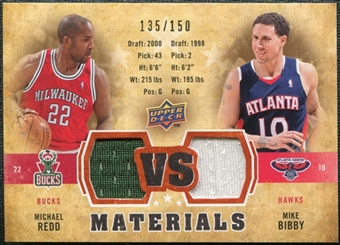 2009/10 Upper Deck VS Dual Materials Bronze #VSBR Michael Redd Mike Bibby /150