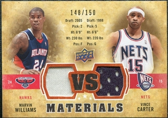 2009/10 Upper Deck VS Dual Materials Bronze #VSCW Marvin Williams Vince Carter /150