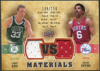 2009/10 Upper Deck VS Dual Materials Bronze #VSEB Julius Erving Larry Bird /150
