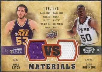 2009/10 Upper Deck VS Dual Materials Bronze #VSER David Robinson Mark Eaton /150