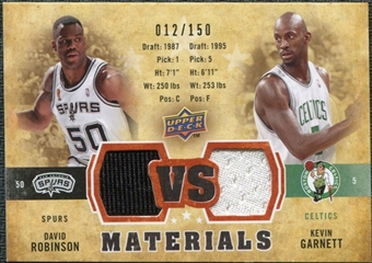 2009/10 Upper Deck VS Dual Materials Bronze #VSGR David Robinson Kevin Garnett /150