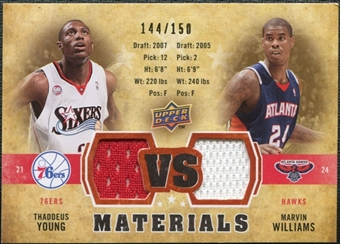 2009/10 Upper Deck VS Dual Materials Bronze #VSWY Marvin Williams Thaddeus Young /150