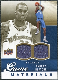 2009/10 Upper Deck Game Materials Gold #GJAB Andray Blatche /150