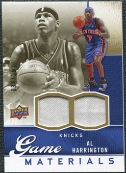 2009/10 Upper Deck Game Materials Gold #GJAH Al Harrington /150