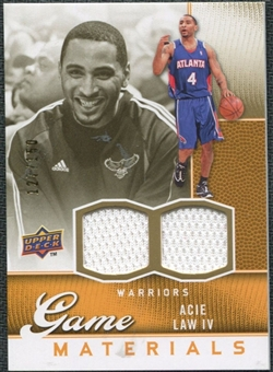 2009/10 Upper Deck Game Materials Gold #GJAL Acie Law IV /150