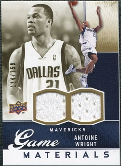 2009/10 Upper Deck Game Materials Gold #GJAW Antoine Wright /150