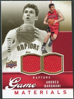 2009/10 Upper Deck Game Materials Gold #GJBA Andrea Bargnani /150