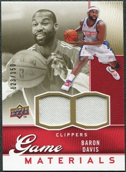 2009/10 Upper Deck Game Materials Gold #GJBD Baron Davis /150