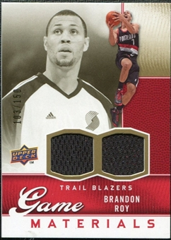 2009/10 Upper Deck Game Materials Gold #GJBR Brandon Roy /150