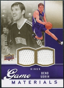 2009/10 Upper Deck Game Materials Gold #GJBU Beno Udrih /150