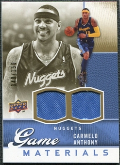2009/10 Upper Deck Game Materials Gold #GJCA Carmelo Anthony /150