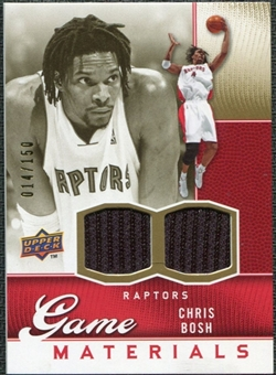 2009/10 Upper Deck Game Materials Gold #GJCH Chris Bosh /150