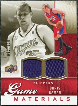 2009/10 Upper Deck Game Materials Gold #GJCK Chris Kaman /150