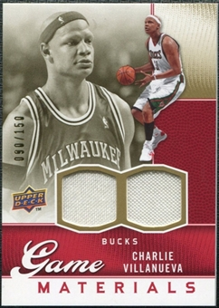 2009/10 Upper Deck Game Materials Gold #GJCV Charlie Villanueva /150