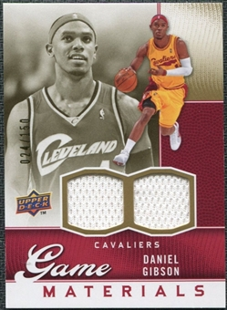 2009/10 Upper Deck Game Materials Gold #GJDG Daniel Gibson /150