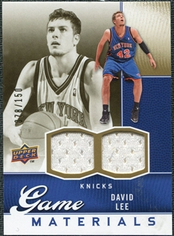 2009/10 Upper Deck Game Materials Gold #GJDL David Lee /150