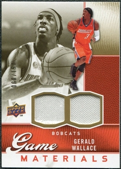 2009/10 Upper Deck Game Materials Gold #GJGW Gerald Wallace /150