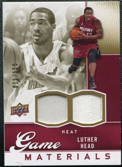 2009/10 Upper Deck Game Materials Gold #GJHE Luther Head /150