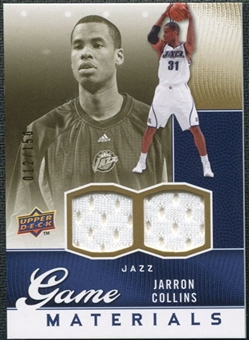 2009/10 Upper Deck Game Materials Gold #GJJC Jarron Collins /150