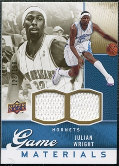 2009/10 Upper Deck Game Materials Gold #GJJU Julian Wright /150