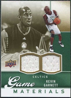 2009/10 Upper Deck Game Materials Gold #GJKG Kevin Garnett /150
