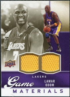 2009/10 Upper Deck Game Materials Gold #GJLO Lamar Odom /150