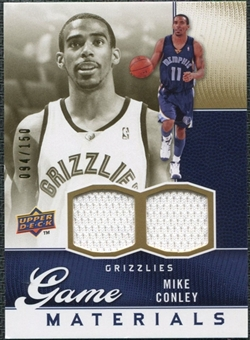 2009/10 Upper Deck Game Materials Gold #GJMC Mike Conley /150