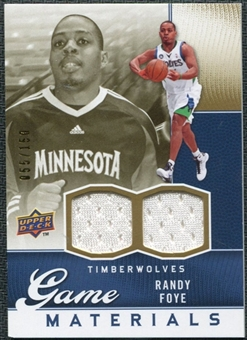 2009/10 Upper Deck Game Materials Gold #GJRF Randy Foye /150