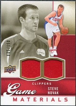 2009/10 Upper Deck Game Materials Gold #GJSN Steve Novak /150