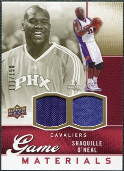 2009/10 Upper Deck Game Materials Gold #GJSO Shaquille O'Neal /150