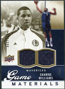 2009/10 Upper Deck Game Materials Gold #GJSW Shawne Williams /150