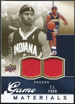 2009/10 Upper Deck Game Materials Gold #GJTF T.J. Ford /150