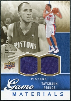 2009/10 Upper Deck Game Materials Gold #GJTP Tayshaun Prince /150