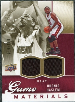 2009/10 Upper Deck Game Materials Gold #GJUH Udonis Haslem /150
