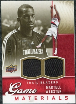 2009/10 Upper Deck Game Materials Gold #GJWE Martell Webster /150