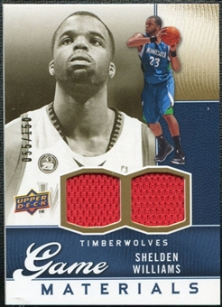 2009/10 Upper Deck Game Materials Gold #GJWI Shelden Williams /150