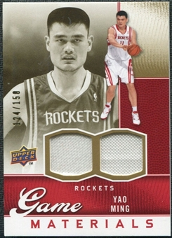 2009/10 Upper Deck Game Materials Gold #GJYM Yao Ming /150