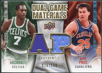 2009/10 Upper Deck Game Materials Dual Gold #DGAP Mark Price Nate Archibald /150