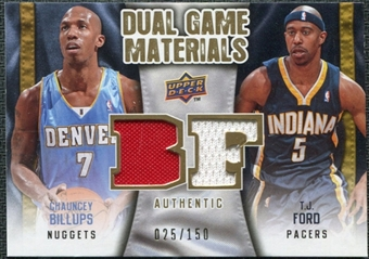 2009/10 Upper Deck Game Materials Dual Gold #DGBF Chauncey Billups T.J. Ford /150