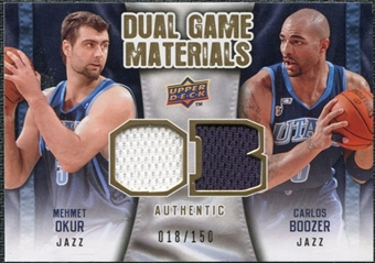 2009/10 Upper Deck Game Materials Dual Gold #DGBO Carlos Boozer Mehmet Okur /150