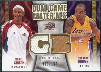 2009/10 Upper Deck Game Materials Dual Gold #DGDS Daniel Gibson Shannon Brown /150
