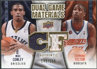 2009/10 Upper Deck Game Materials Dual Gold #DGFC Mike Conley Raymond Felton /150