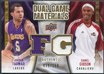 2009/10 Upper Deck Game Materials Dual Gold #DGFG Daniel Gibson Jordan Farmar /150
