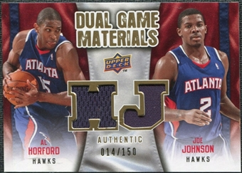 2009/10 Upper Deck Game Materials Dual Gold #DGJH Al Horford Joe Johnson /150