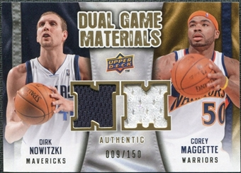 2009/10 Upper Deck Game Materials Dual Gold #DGMN Corey Maggette Dirk Nowitzki /150
