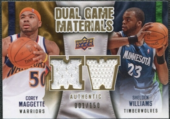 2009/10 Upper Deck Game Materials Dual Gold #DGMW Corey Maggette Shelden Williams /150